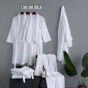 Cotton Bath Robe unisex free size high quality Hotel Supplies home classic designed sleepwear