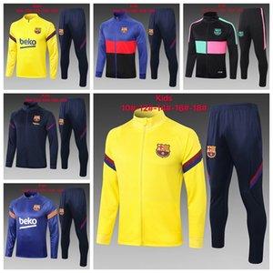 21 22 Barcelone kids Zipper Jacket Soccer Football Tracksuits maillot foot Messi GRIEZMANN F. DE JONG DEST MEMPHIS Survetement Chandal Training Suit T02
