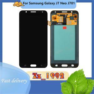 Cep Telefonu Dokunmatik Paneller En Kaliteli Orijinal Samsung J7 Neo J701 LCD Ekran Onarım Değiştirme Ekran Digitizer Meclisi Bölüm 100% Test