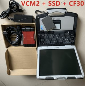 En VCM2 Araba Teşhis Aracı için F-ord VCM II IDS V101 Çoklu Dil For-D Araçlar IDS VCM 2 OBD2 Tarayıcı ile CF30 Dizüstü