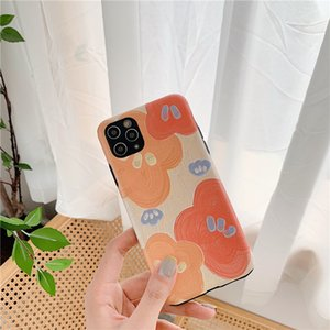 Simple Oil Painting Flower Apple Pattern 11 Pro Mobile Phone Case Suitable For IP XS Max Soft Shell 7 8plus Huawei P40pro Couple Mobile Phone Protective Cover