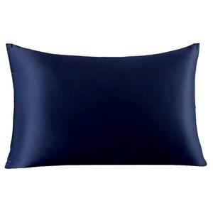 20*26inch Silk Satin Pillowcase 12 Colors Ice Silk Skin-friendly Pillowslip Zipper Cover Double Face Envelope Bedding Pillow Case 437 V2