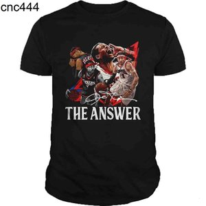Deans Allen Iverson The Antwort Unterzeichnung Hoodie Kurzarm Graphic T-Shirt Frauen Männer Nette Beliebte Frau Heide