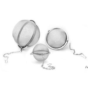 Stainless Steel Tea Pot Infuser Sphere Locking Spice Tea Ball Strainer Mesh Infuser Tea Strainer Filter Infusor AHE5900