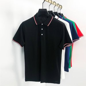 مصمم رجل monclair قميص بولو المرأة أزياء التطريز إلكتروني الأعمال قصيرة الأكمام التشييق الزى