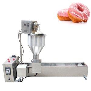 Automatic Commercial Donut Machine Single Row Auto Doughnut Maker Electric Donut Fry Machine Intelligent Control Panel 2500W