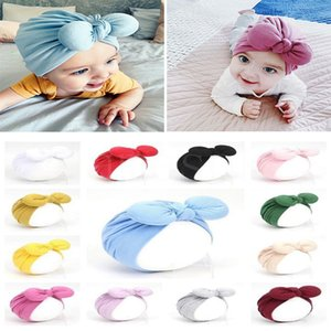 Party Decoration Cute Babys Hat 2021 spring Ears summer Indian hats bow Baby Headband 16color Suitable for 1-3 years old DB777