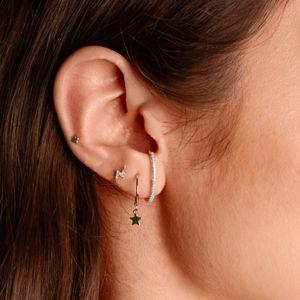 simple lovely girls earring gift fine 925 sterling silver long cz skinny bar classic minimal charming earrings stud