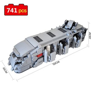 741pcs Star Series Wars Troop Transport Building Blocks Star Movie General Robot Action Bricks Assembly Toys for Children Gifts K716