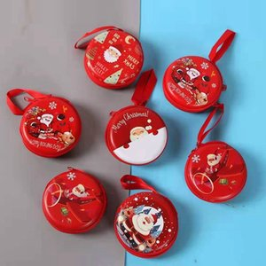 Cute Christmas Coin Purse Cartoon Kids Girls Wallet Earphone Organizer Box Small Coin Pocket Christmas Gift Santa Claus Pendant DBC BH4346