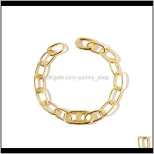 Designer Women Gold Charm Bracelet Stainless Steel Punk Hip Hop Earrings Bracelets Necklaces Jewelry Suits Fashion Bijoux Ejbla W5Ukz
