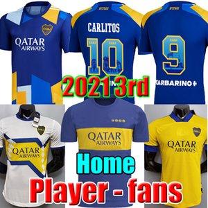 Fans Player version 20 21 maillot de football Boca Juniors MARADONA TEVEZ DE ROSSI 2020 2021 domicile 3ème 4ème maillot de football thaïlande
