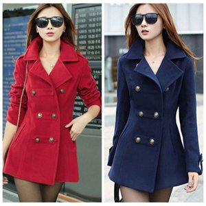 Zogaa Brand New Women Trench Coats Plus Size Slim Fit Double Breasted Red Casual Overcoats for Spring Autumn Long Coat Female