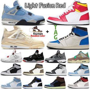 Jumpman Retro 4 Sail University Blue Jumpmans 1s 4s Men Basketball Shoes Hyper Royal Shadow 2.0 Dark Mocha Silver Toe Twist 1 women mens Sports sneakers