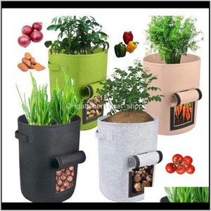 Planters Pots Supplies Patio, Lawn & Drop Delivery 2021 Plant Grow Home Potato Pot Greenhouse Vegetable Growing Bags Moisturizing Jardin Vert