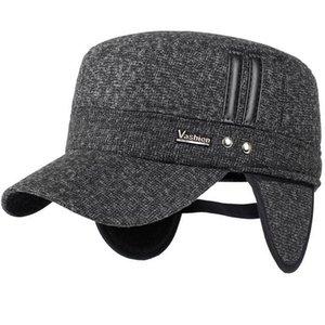 Bahar Voron 2021 Avrupa Kış Yeni erkek Pamuk Şapka Moda Erkekler Ve Kadınlar Sonbahar Ve Kış Beyzbol Şapkası Ayarlanabilir Elastik Kulak Kapağı