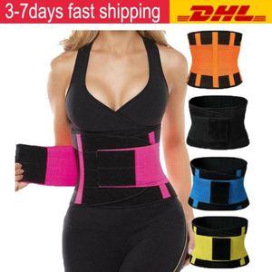 Best US Trainer STOCK Plus for Size women Sauna Sweat Thermo Cincher Under Corset Yoga Sport Shaper Belt Slim Workout Waist SupportU5NC