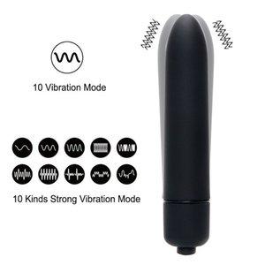 Vibrators 10 Speed Bullet Vibrator Waterproof Clitoris Stimulator Dildo Sex Machine Toys for Women Adult Vagina Vibrating Panties 0927