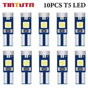 10PCS Super Bright LED T5 58 73 74 70 LED 74 W1.2W W3W Car Wedge LED Car Warning Indicator Instrument Cluster Light 12V DC