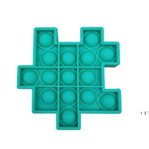 Anti Stress Puzzle Pop It Fidget Toy Push Bubble Sensory Silicone Kids Rubik's Cube Squeezy Squeeze Desk Toys EWF6428