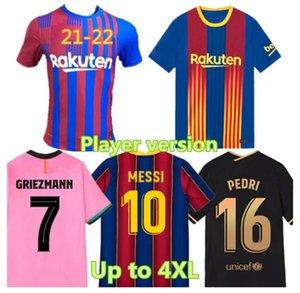 Griezmann Pedri-Player-Version Fussball Jersey 21-22 F. De Jong Thai Qualität Home und Away Ansu Fati Football Shirts Männer + Kinder Kit Uniformen
