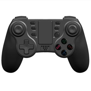 BLUETOOTH GAMEPAD ل PS3 PS 4 وحدة فيديو لاسلكي لعبة فيديو USB الدوران Jyro Joystick Pro Controller دعم Touch TouchPad تحكم المقود