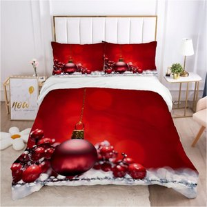 Bedding Sets Christmas Santa Quilt Cover Set 200x200 Double Bed Single Red Ball
