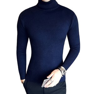 Loldeal Mens Classic Turtleneck Pullover Winter Christmas Thick Warm Cashmere Wool Sweaters Slim Fit Jumper Solid color sweater