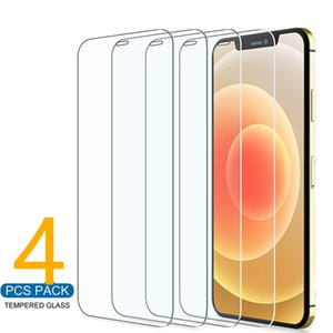 4Pcs Protector Glass On iPhone 11 12 Pro Max XS XR 7 8 6s Plus SE Screen Tempered