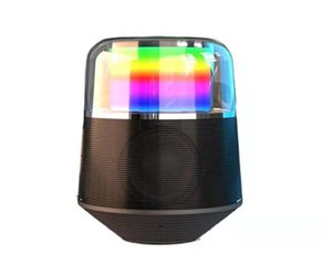 2021 Arrival Bluetooth Speakers RGB Colorful Flash Bluetoothe speaker Stereo Sound Player Box Cafe Bar Light Flashing Business Gift Speake