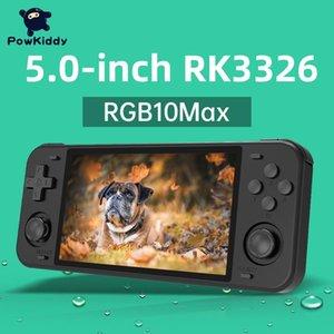 RGB10MAX Handheld Game Console 5 pulgadas Pantalla IPS 128G 30000 juegos WiFi Module Vibration RK3326 Player Regalos para niños jugadores portátiles