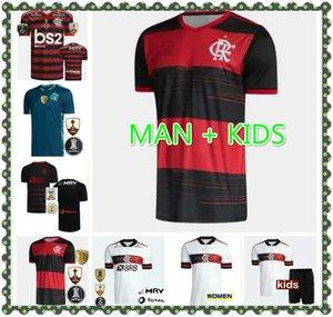 20 21 Flamengo 9 Gabriel B. Jerseys de futebol 14 de Arrascaeta 10 Diego Vinicius Jr Gerson 7 E.Ribeiro 2021 Camisa de Futebol