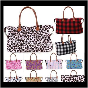 33 Style Buffalo Check Handbag Red Black White Plaid Bags Large Capacity Travel Tote With Pu Handle Storage Maternity Bag Wholesale De Hdemu