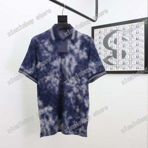 21SS Hommes Imprimé T-shirts Designer Paris Tricot De Camouflage Vêtements Pour manches courtes Mens Homme Tag Blanc Black 05