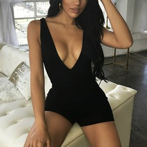 Rompers Bodysuit Jumpsuits Playsuit Summer Plus Size One Piece Overalls for Women Clothing Sexy Backless Body Feminine Bodycon