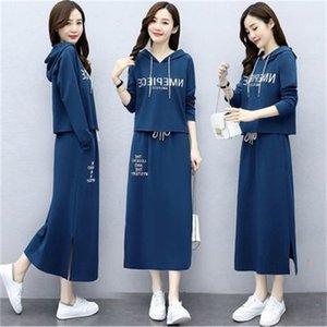 드레스 2021 여성 이른 가을의 여동생의 두 패션 서양 스타일의 여동생은 고기를 덮고 나이와 고급 기질을 잘라냅니다.