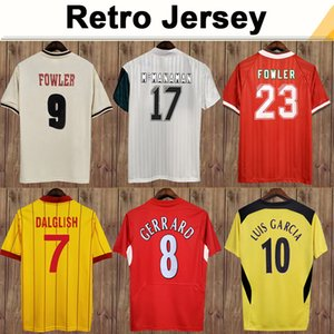 1993 1995 Dalglish Hesque Mens Retro Futebol Jerseys Fowler Gerrard Torres Kuyt Home 3ª Camisa De Futebol De Manga Curta Adulto Uniformes