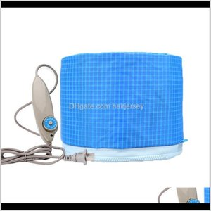 Other Cares Styling Tools Products Drop Delivery 2021 Sky Blue Baking Oil Electric Cap Heat Power Generator Hair Care Spa Hairdressing Mask H