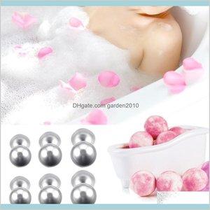 Bath Brushes, Sponges & Scrubbers Bathroom Accessories Home Garden Wholesale- 12 Pcs Diy Bomb Ball Shape Molds Aluminum Alloy Balls Ba