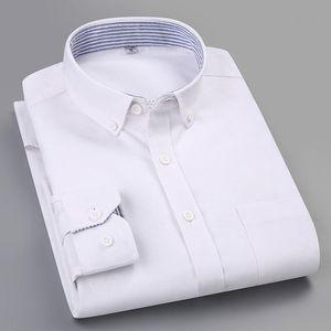 100% чистая хлопчатобумажная полосатая клетчатая рубашка Oxford повседневная стройная подходящая мужчина Longsleeve для мужской моды одежда тенденции мужские рубашки