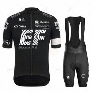 Ensembles de course 2021 Équipe EF Jersey Cycling Ensemble Noir Hommes Vêtements Vêtements Vélo Vélo Vélo Bas de bicyclettes Tops Raphaful Wear Maillot Ropa