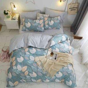 Botanical Leaves Duvet King Queen size 100%Cotton Floral Bedding Set Ultra Soft Comforter Cover Bed Sheet Pillowcases