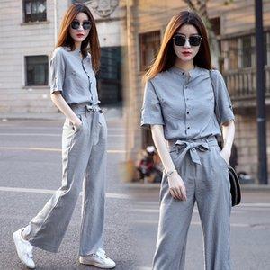 Нога широкие брюки костюм женские 2021 новая весенняя и летняя одежда Корейский верситель темперамент знаменитости