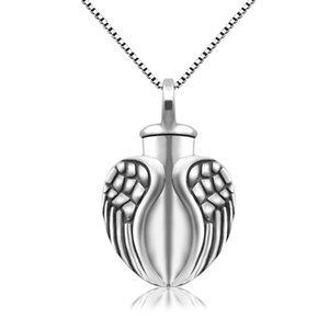 necklacecremation jewelry ashes 925 sterling silver angel wing urn pendant necklace