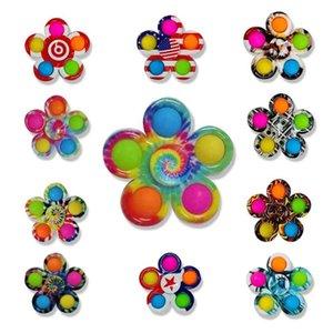 Nova Plum Blossom Fingertip Fidget Fidget Brinquedos Empurrar Bubble Popper Tiktok Tik Tok Fashion Stress Divertimento Divertimento Divertimento Decompressão Mão Spinners Game G504Nyn