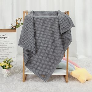 Baby Blankets 100*80cm Knitted Newborn Boys Girls Swaddle Wrap Blanket Infant Kids Stroller Bedding Basket Quilt Child Accessory 922 X2