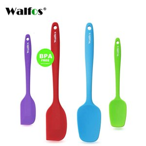 WALFOS set of 4 Heat Resistant Silicone Cooking Tools Non-stick Spatula Spoon Turner Accessories Baking Tools Kitchen Utensils Y0428