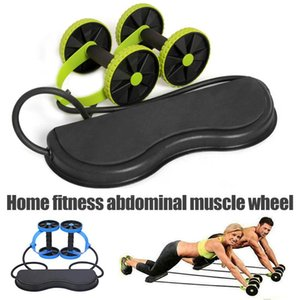 Fitness Wheels Roller Elastic Abdominal Muscle Resistance Pull Rope For Training Exercise Home FOU99 Equipment