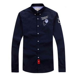 Eden Park long Sleeve Shirt For Men High Quality Nice Design Business Casual Style Cotton Fabric size M L XL XXL Free Shippin