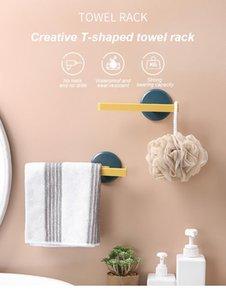 Towel Racks Bathroom Storage Rack Toilet Wall-Mounted Hook Kitchen Wipes Hanging Gadgets
